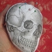 Printed Pincushion - Skull