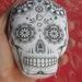 Printed Pincushion - Sugar Skull