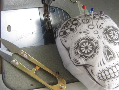 Printed Pincushion - Sugar Skull