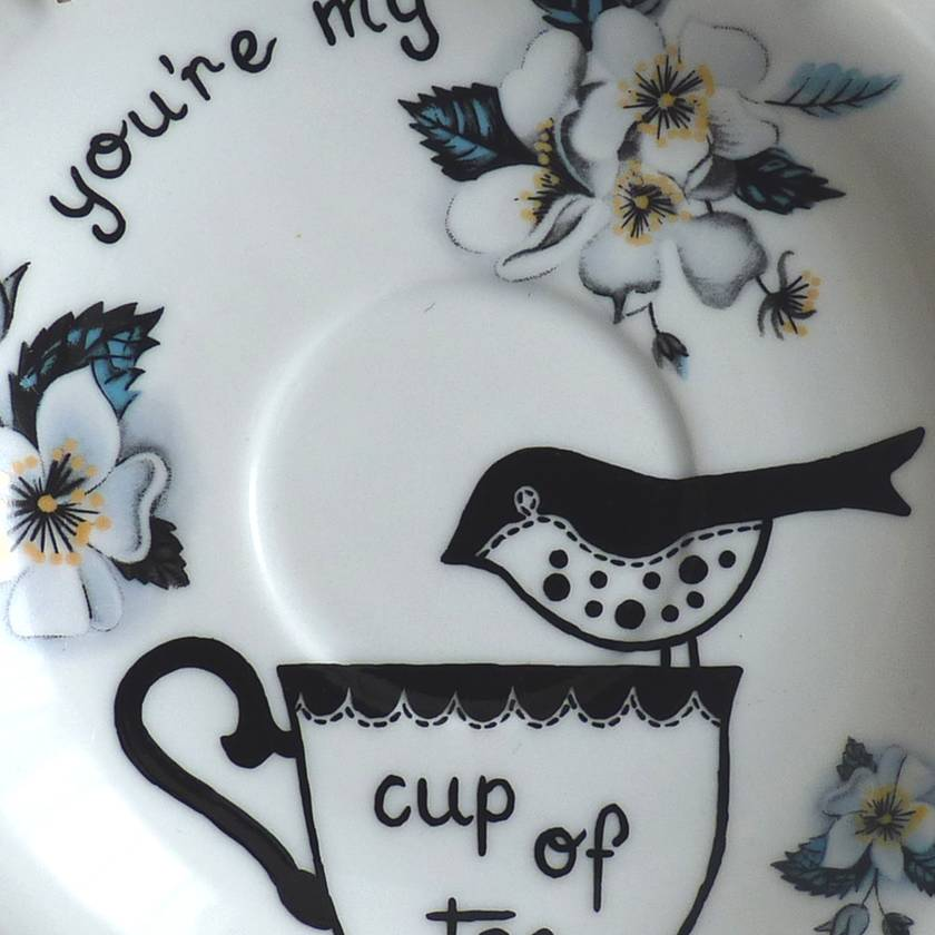 You're my cup of tea – upcycled vintage plate