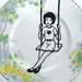 Swinger – upcycled vintage plate