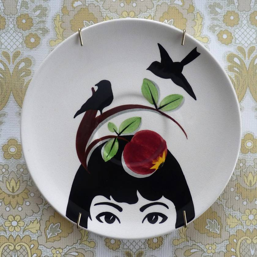 Fascinator – upcycled vintage plate
