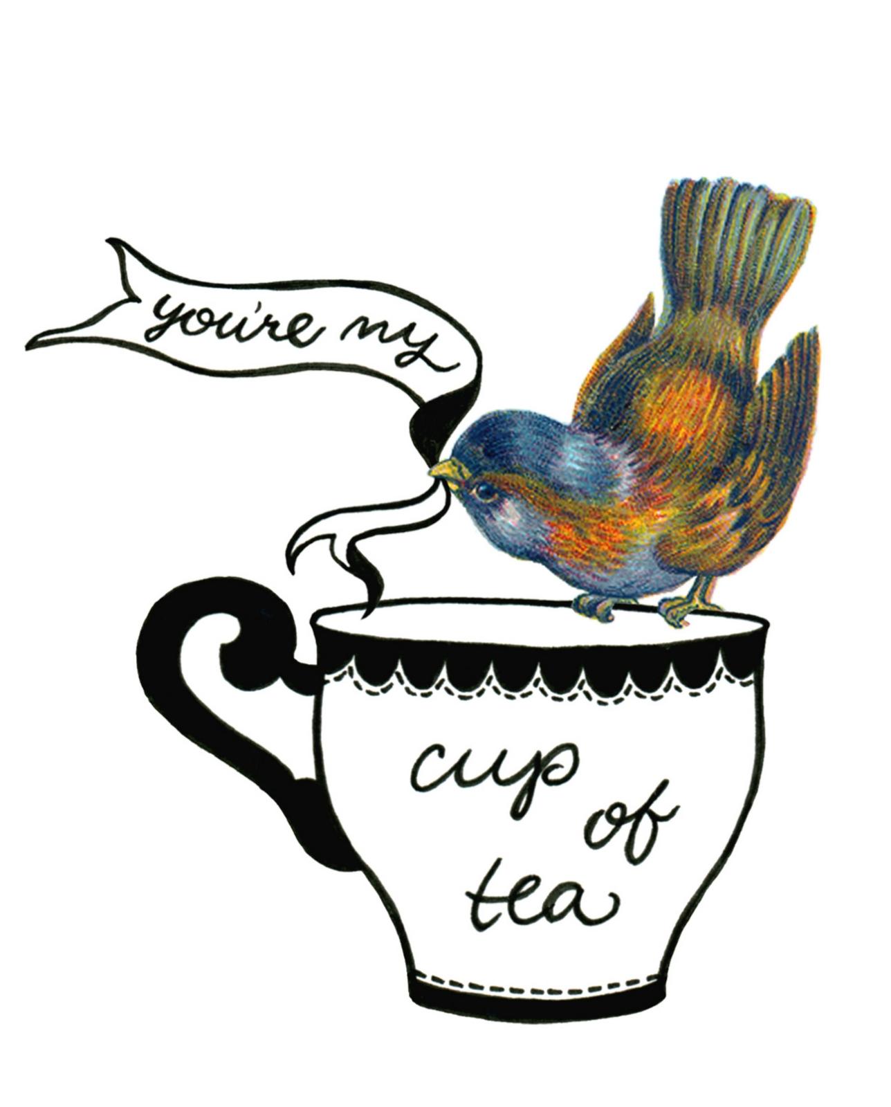 you re my cup of tea felt. Black Bedroom Furniture Sets. Home Design Ideas