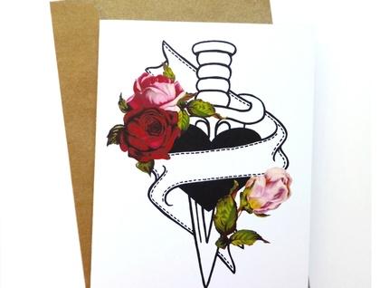 Heart Dagger Tattoo – customizable card!