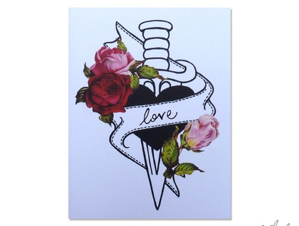 Heart Dagger Tattoo – customised card!