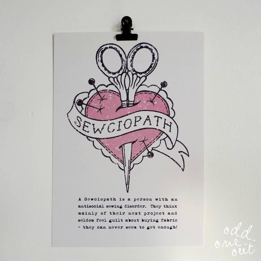 Sewciopath - A5 Print