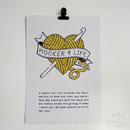 Hooker 4 Life - A5 Print