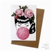 Miss Bubblegum - greeting card