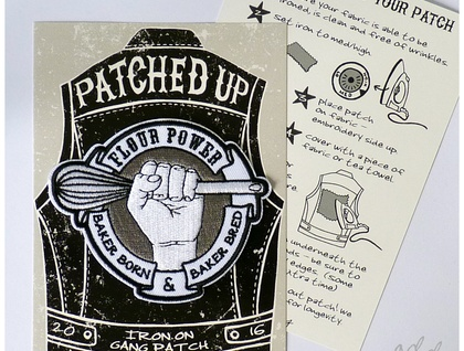 Flour Power - Iron on Gang Patch