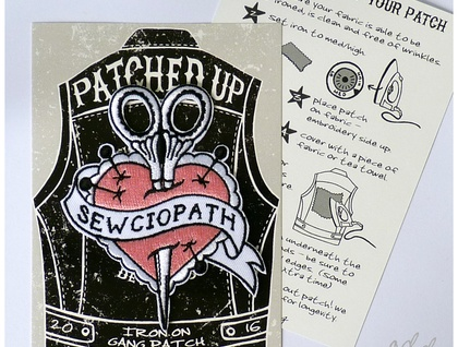 Sewciopath - Iron on Gang Patch