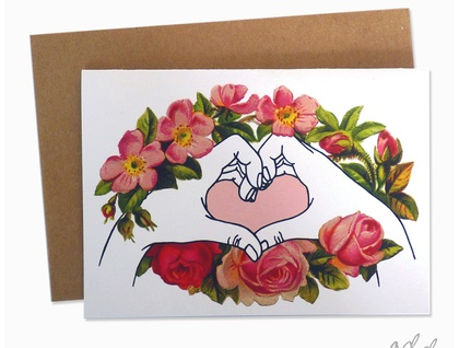 I love you hands - Greeting Card