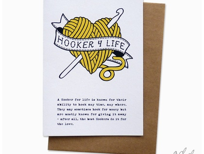 Hooker 4 Life - Greeting Card