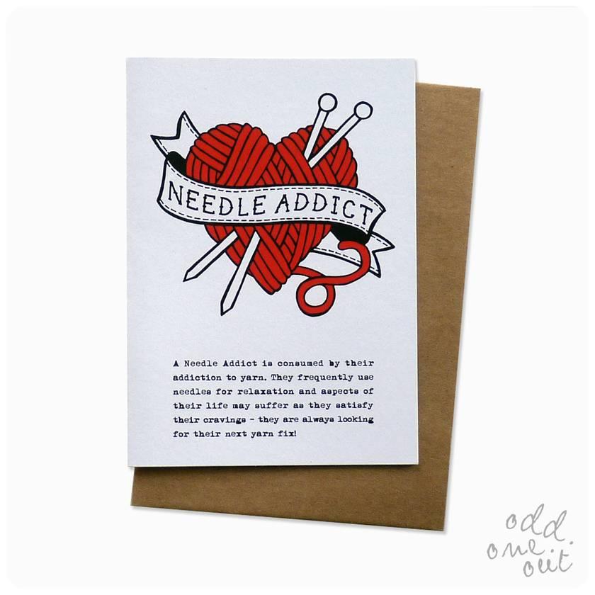 Needle Addict - Greeting Card