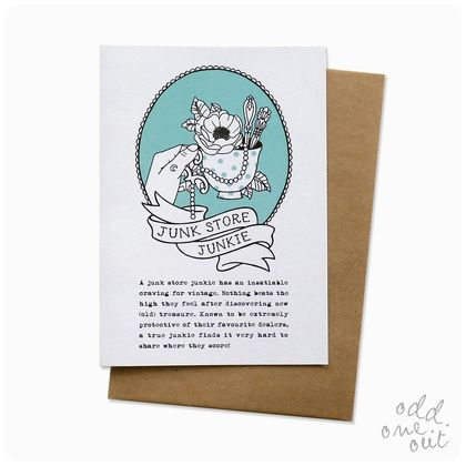 Junk Store Junkie - Greeting Card