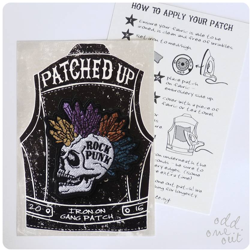 Rock Punk - Iron on Gang Patch