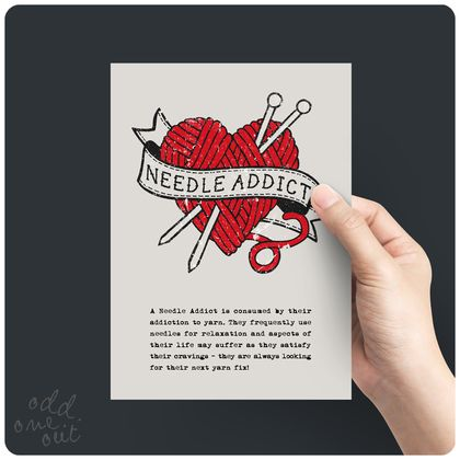 Needle Addict - A5 Print