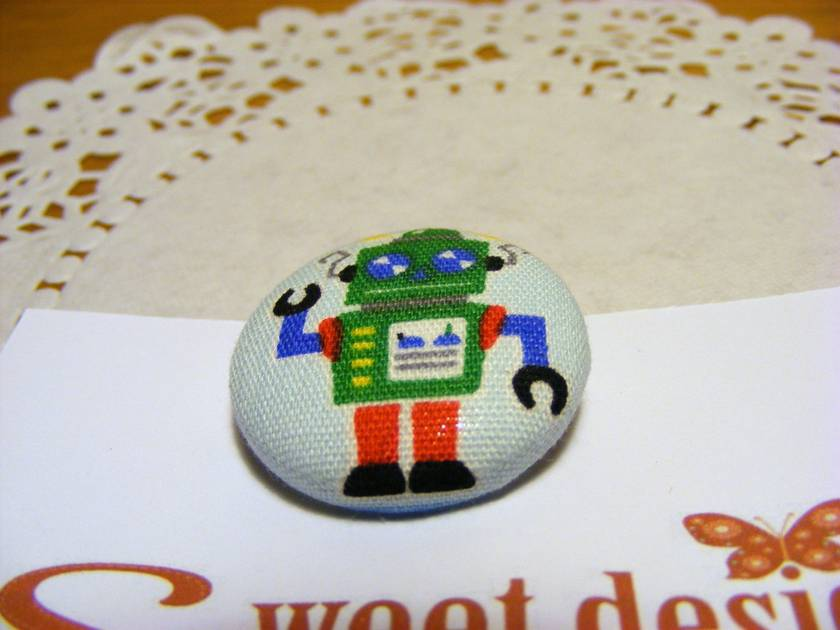 Green Robot Badge