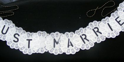 Wedding Doily Bunting