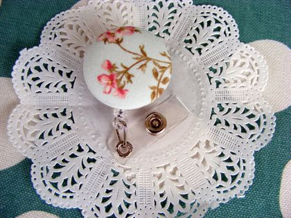 Shabby Chic Floral Security Tag