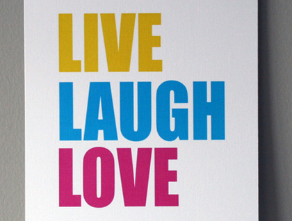Live laugh love home decor wall art 5x7 felt for Live laugh love wall art