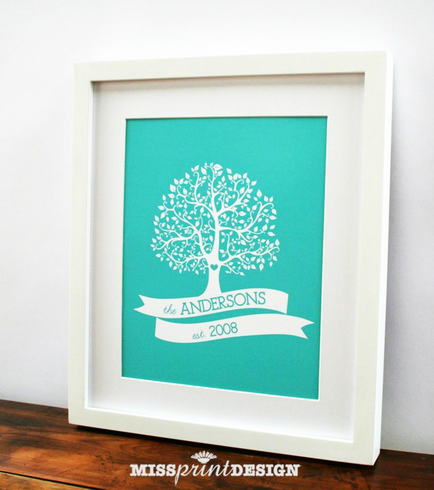 family tree personalized wall art print 8x10 felt. Black Bedroom Furniture Sets. Home Design Ideas