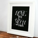 LOVE you to the MOON and BACK- Chalkboard Inspired, Baby Nursery Wall Art, Baby Shower Gift 8x10