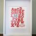 Baby Nursery Art - Personalized Alphabet Print 8x10