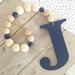 Custom Wood Letter drop garland