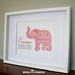 Damask Elephant - Baby Nursery Art - Personalized 8x10