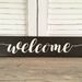 Rustic Wooden Signs - Welcome