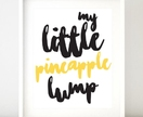 (2prints) Pineapple Lump Kiwiana Kids Wall Art