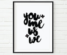 (SALE) Typography Calligraphy Black Ink Wall Art Print a4