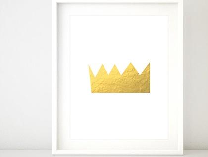 Golden Crown A4 Print