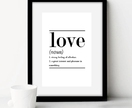 Love Typography Print