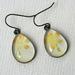 yellow floral teardrop earrings