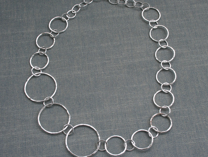 3 large links - chunky silver chain