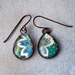 teardrop earrings -turquoise paisley