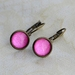hot pink leverback earrings