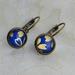 cobalt blue petals - leverback earrings