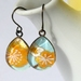 teardrop earrings - sunshine blooms