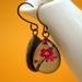 teardrop earrings - fuschia blooms