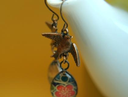 teardrop earrings - midnight blooms