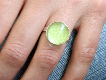 small dome ring - limeade