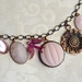 pretty in pink - vintage charm necklace