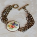 vintage floral chain bracelet