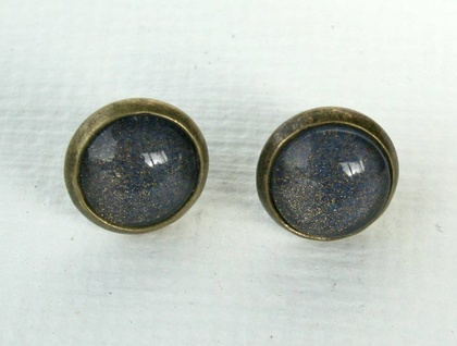 cute dome studs - midnight blue