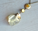 Huge citrine vintage drop pendant