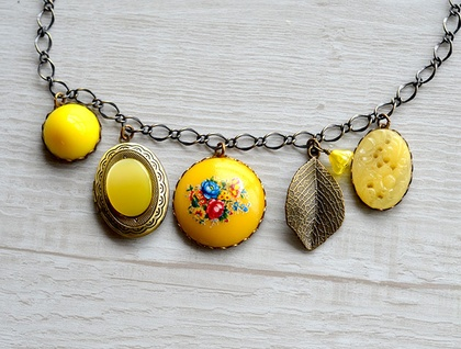 lemon and sunshine charm necklace