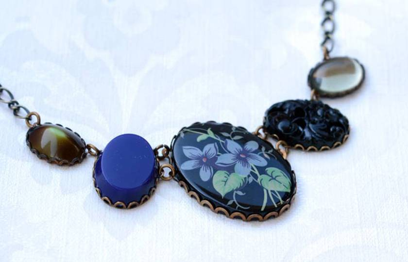 night blooming jasmine - 5 link necklace