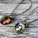 double sided drop earrings - vintage stones